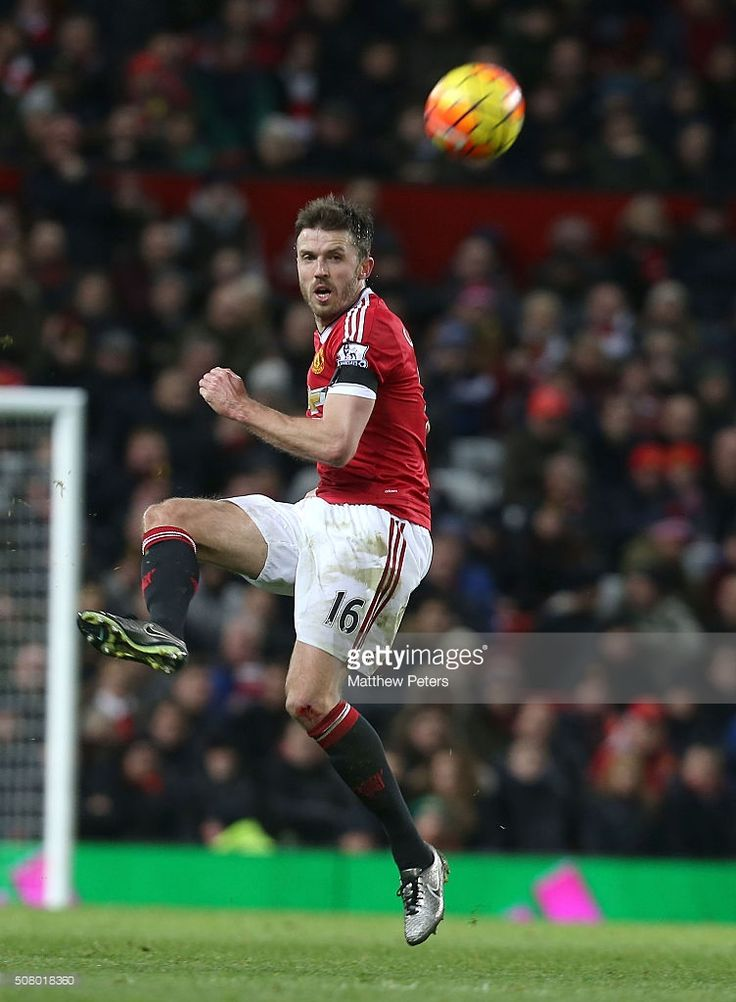 Michael Carrick of Manchester United in action during the Barclays Premier  League match between Manchester United and Stoke City at Old Trafford on  February ...