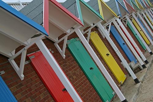 Swanage beach huts by dorsetforyou.com, via Flickr