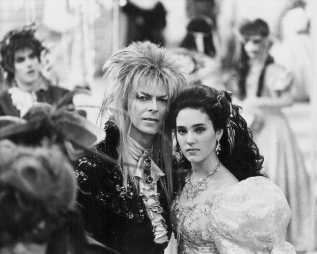 Jennifer Connelly and David Bowie in Labyrinth (1986)