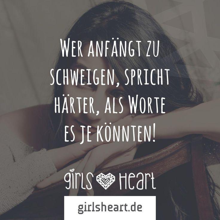Mehr Sprüche auf: www.girlsheart.de  #schweigen #trauer #wut #enttäuschung…