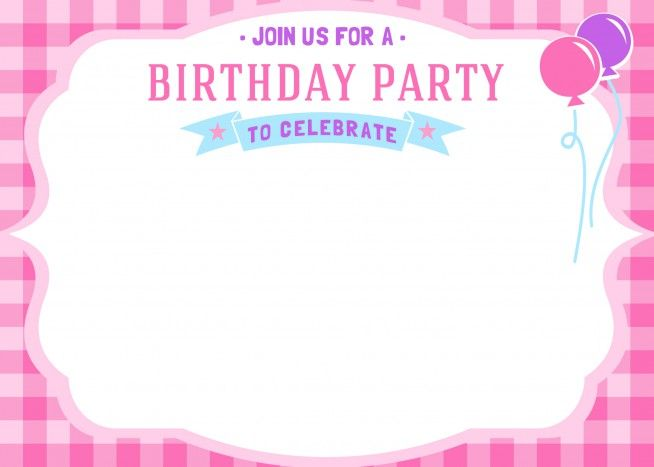 Download Now Free Printable Girls Birthday Invitations