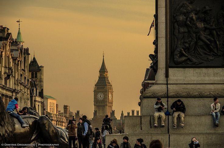 Big Ben and Trafalgar Square