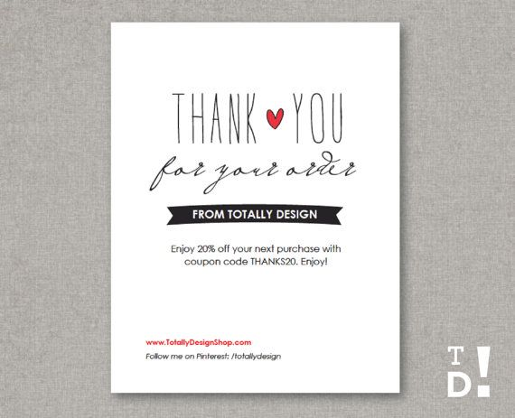 Более 25 лучших идей на тему «Business thank you notes» на - business thank you card template