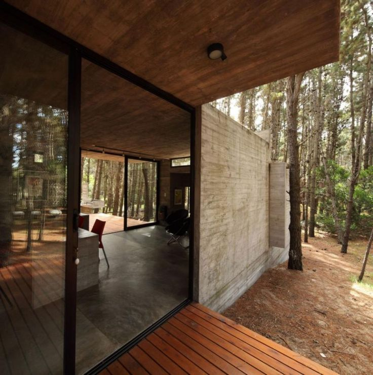 sliding door design in small house 96x96 modern wooden house small and minimalist forest house with