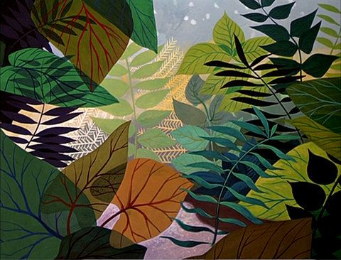 Kind of like the idea of making outdoor wall art--all different sorts of leaves. I'd like to do tropical ones, of course