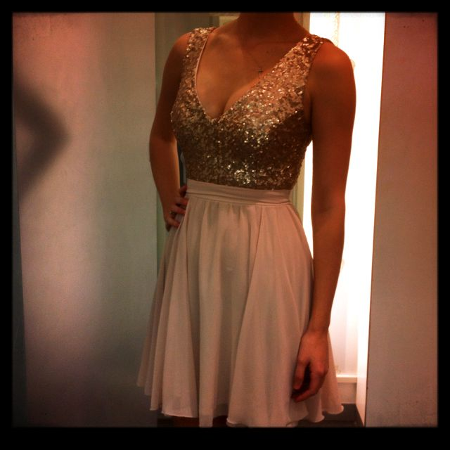 Dress For A Family Wedding In Cape Town :) Gold/nude Dress