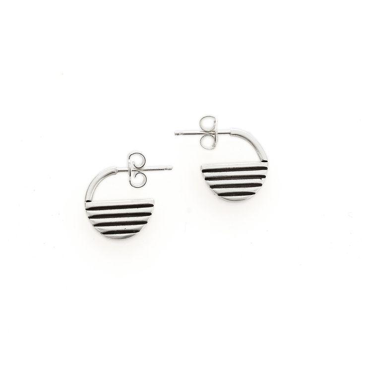 Silver rise earrings | Dear Rae | Online Shop