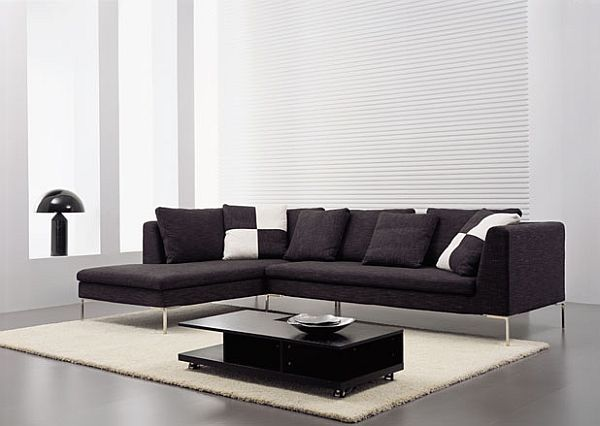Best 25+ Black sectional ideas on Pinterest | Black couches, Black ...
