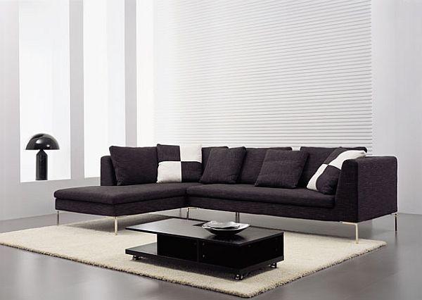 Best 25+ Black sectional ideas on Pinterest   Black couches, Black ...