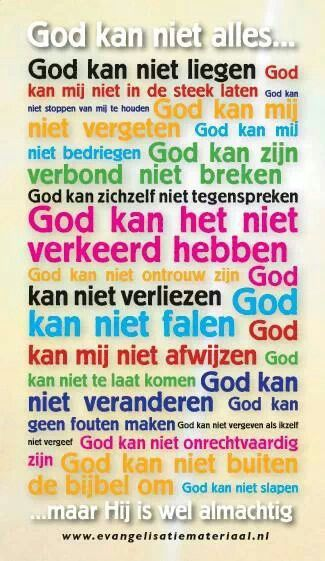 God kan niet alles.