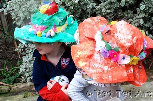 Make hats out of newspapers! Ideal for the Easter Bonnet season!