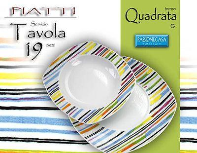 SERVIZIO-PIATTI-QUADRATO-ARCOBALENO-BIANCO-19-PEZZI-TAVOLA-PORCELLANA-449987