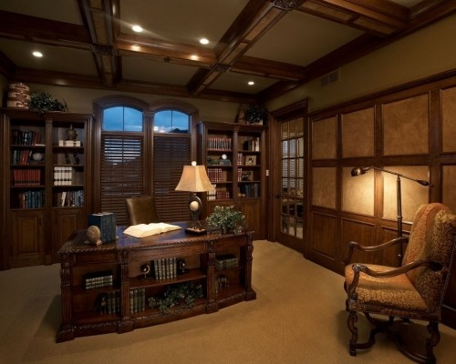 Mediterranean Home Office Photos Design, Pictures, Remodel, Decor And Ideas    Page 10