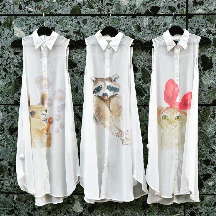 #cutenessoverload 🐈 #szputnyikshop #szputnyik #budapest #limitededition #printed #shirtdress #perfect #summer #ladies #wear #llama #raccoon #cat #instacute