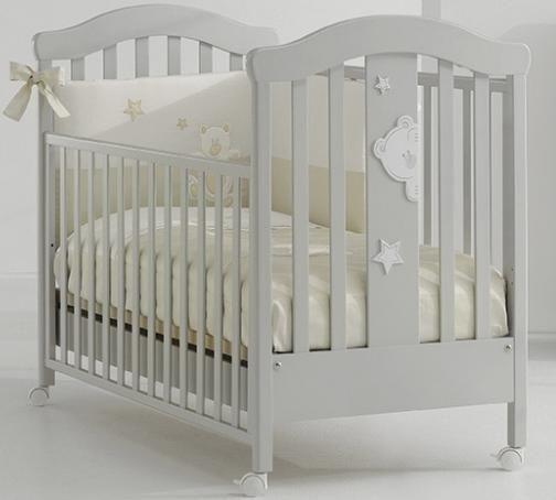 Детская кроватка Erbesi Cucu (белая)