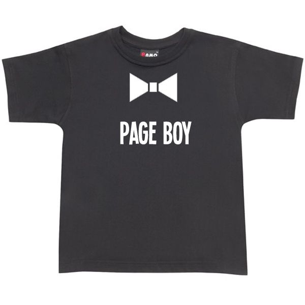 Page Boy Bow Tie TShirt
