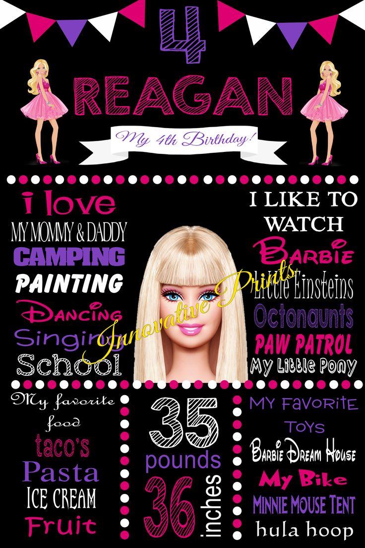 Barbie Milestone Poster- to order please click image twice