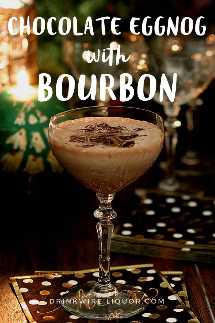 Bourbon, #chocolate and #eggnog? Sounds like the ingredients to having the best #holiday season ever! And let's be honest, eggnog is delicious, but it was meant to be spiked into a cocktail with a little whiskey.