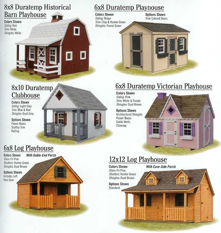 Outdoor playhouse kits woodworking projects plans for Playhouse with porch plans