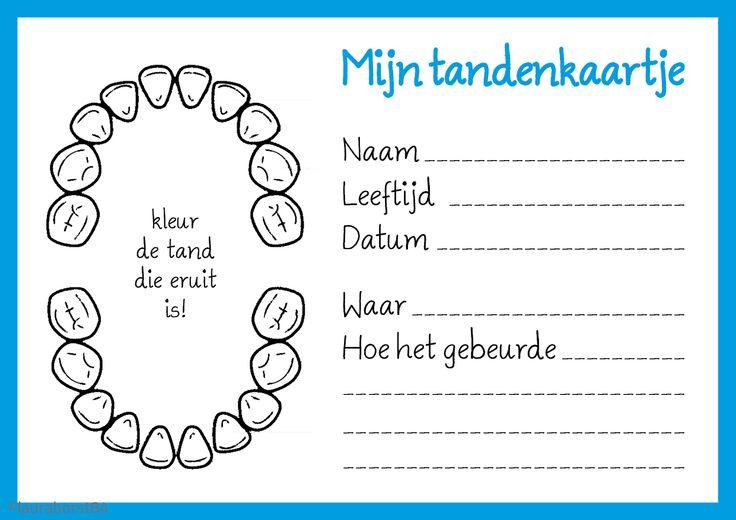 Tanden wisselen, leuk om bij te houden met deze #DIY tandenkaartjes