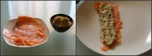 """Gli """"Involtini di salmone con pesto di romanesco"""" sono semplicissimi da preparare, li potete servire come antipasto freddo, oppure in occasione di un buffet"""