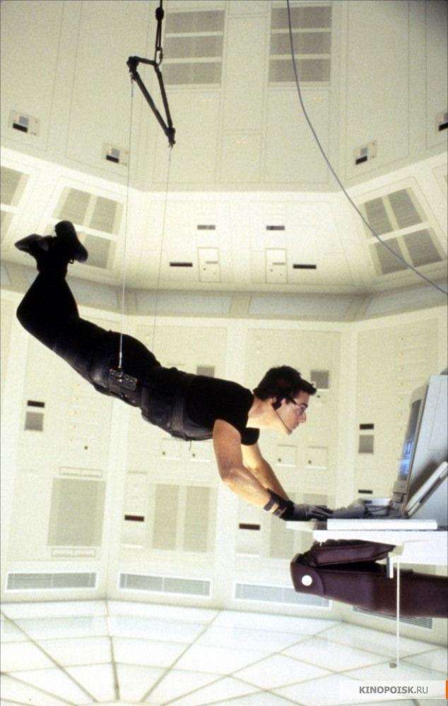 "Tom Cruise as Ethan Hunt in ""Mission: Impossible"" (1996)"