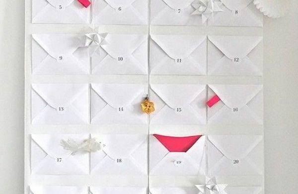 adventskalender selbst gestalten umschläge papier falten adventskalender füllen