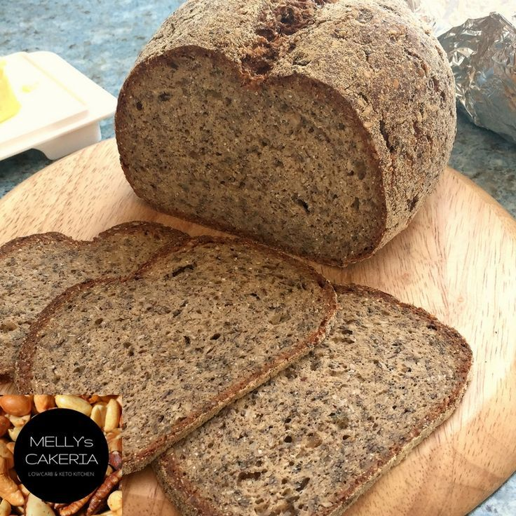 Unser Dunkles: LowCarb Sesambrot