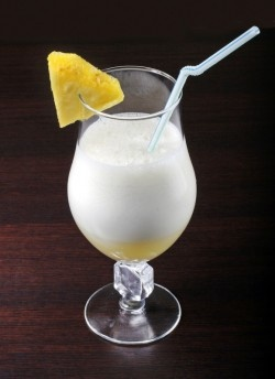 The Flying Kangaroo- is a creamy tropical concoction where the alcohol flavor gets lots in the mixers. The dominant flavors are coconut and pineapple, but the touch of orange juice and herbal liqueur give it a special touch.