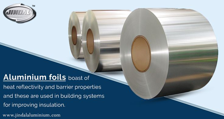 Key applications of aluminium foils for applications in technical areas: •Fire walls and doors •Batteries •Fibre optic cables •Electric Cables Aluminium foils boast of heat reflectivity and barrier properties and these are used in building systems for improving insulation.  http://www.jindalaluminium.com/ | #JAL | #AluminiumFoils