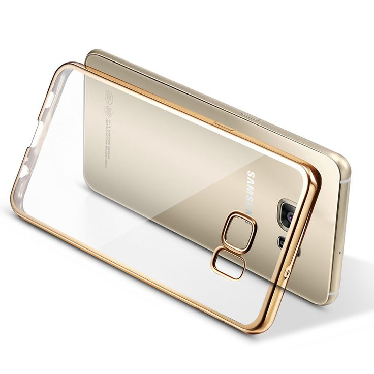 Clear Coque Plating TPU Case for Samsung Galaxy S6 S7 Edge Plus Note 5 Note 7 C5 C7 Soft TPU Caso Cover