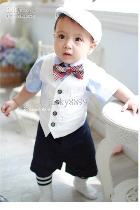 Wholesale New baby boy s shortsleeve fashion suit 2013