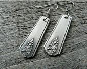 earrings made from silverwareForks, Silverware Repurposing, Silver Spoons, Made From Silverware, Spoons Handles, Handmade Jewelry, Earrings, Silverware Jewelry
