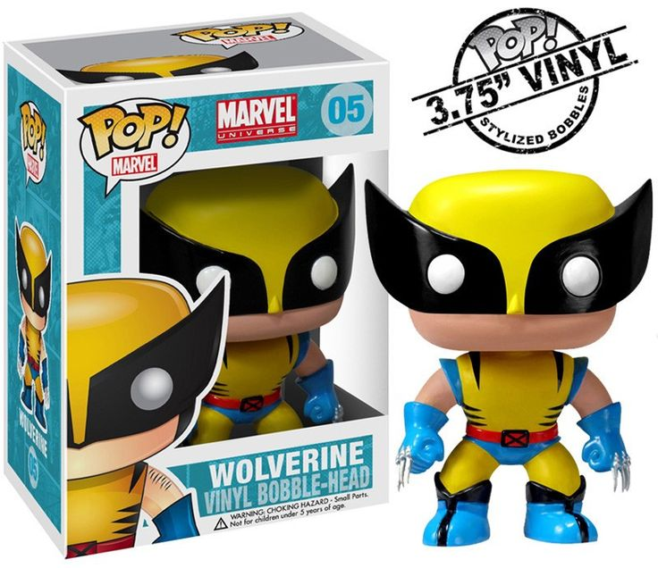 Wolverine Pop Heroes Bobble-Head Vinyl Figure