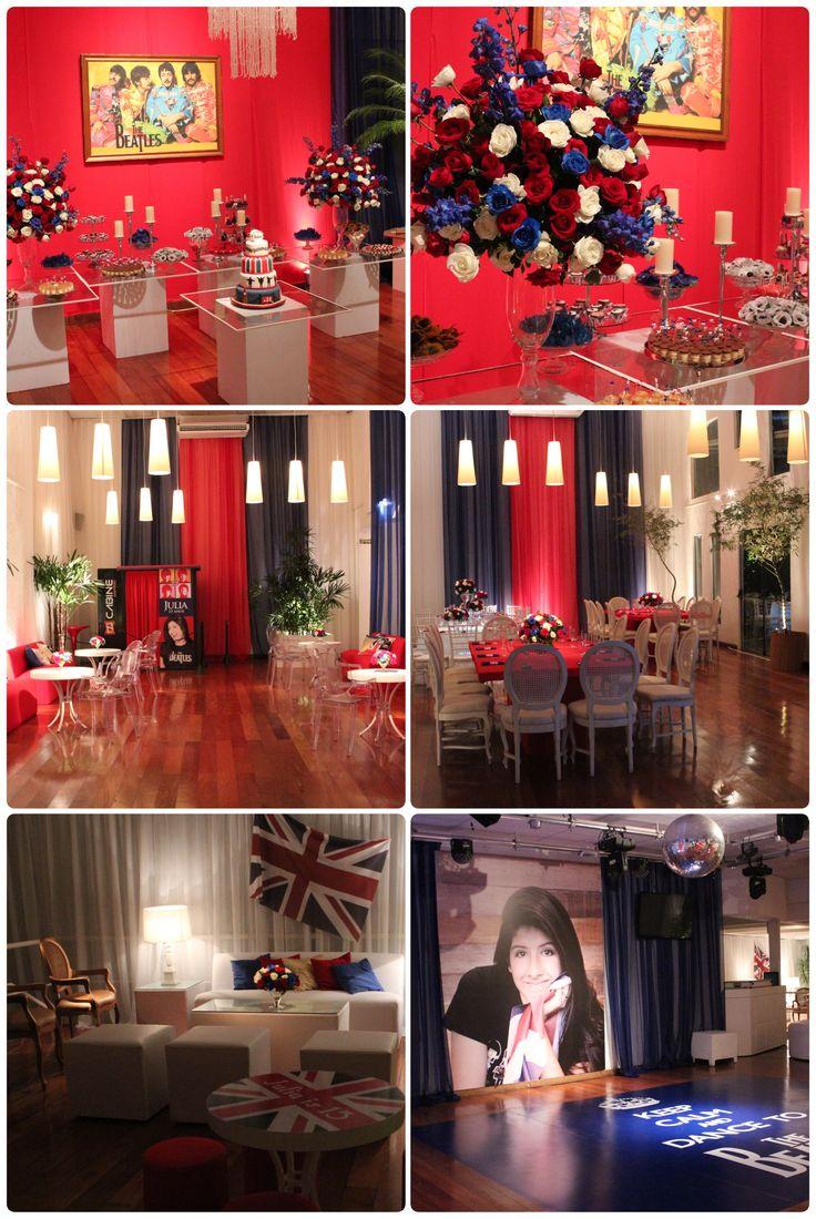 decoracao festa londres:Beatles inspiration – 15 anos Julia: Party 15, London Party, 15, Dd 15