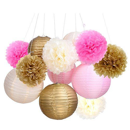 Outus Tissue Paper Pom Pom Flowers and Paper Lanterns Party Decoration, 12 Pieces by Outus, http://www.amazon.com/dp/B01L1EM81C/ref=cm_sw_r_pi_dp_x_LjOrzbMG84G79