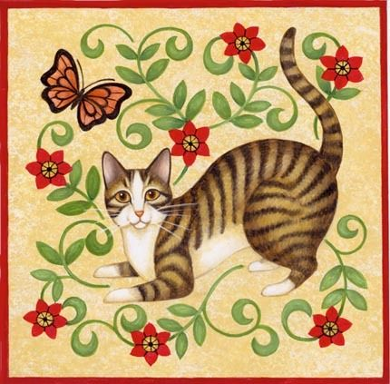 Stylized Cat Butterfly by Stephanie Stouffer | Ruth Levison Design