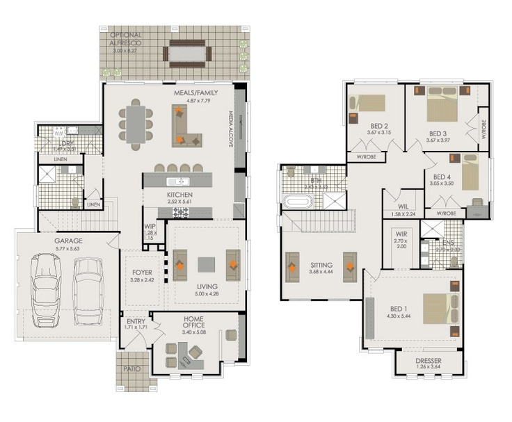 DOUBLE STOREY HOME DESIGNS - Trevelle Homes