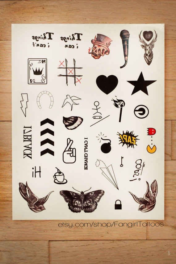 Replica One Direction temporary tattoos.