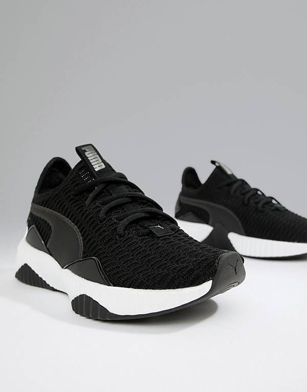 Puma Training Defy Trainers In Black | Fashion, Sneakers
