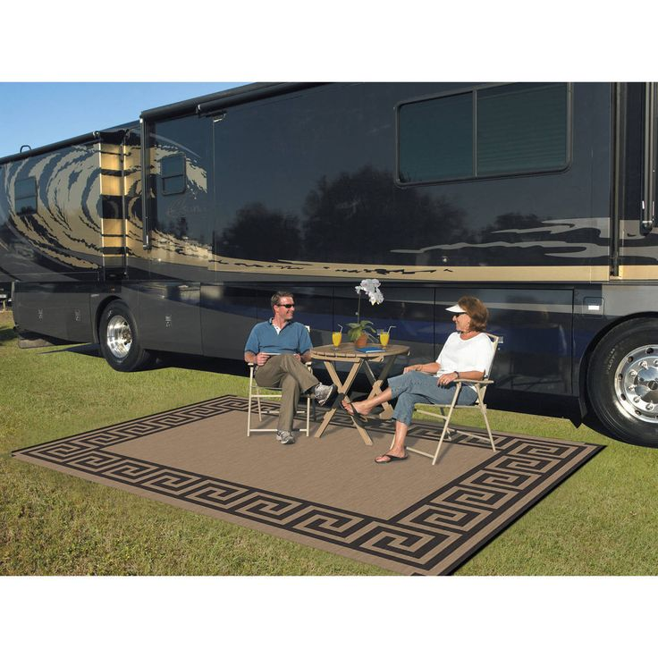 Outdoor Rug 9x12 Indoor Patio Deck Camper Beach Mat Reversible Picnic Carpet NEW #Unknown