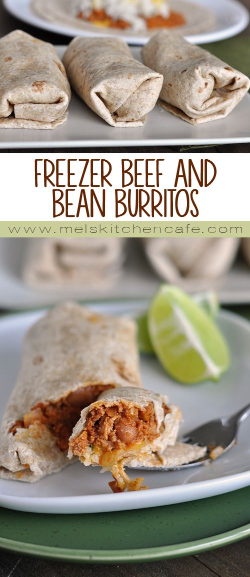These freezer beef and bean burritos are a great staple to have in the freezer for hectic dinner nights.