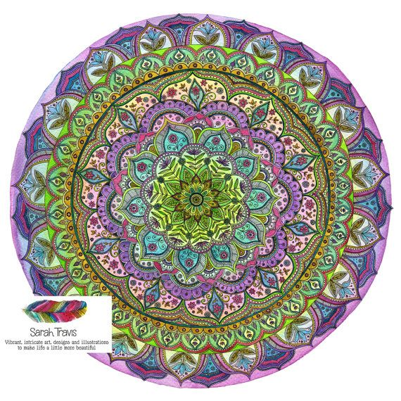 Intense, Intricate Floral Mandala Print (Single)