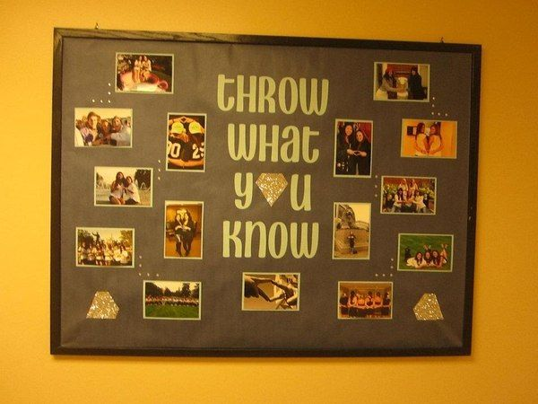 Cute bulletin board for the house during recruitment!