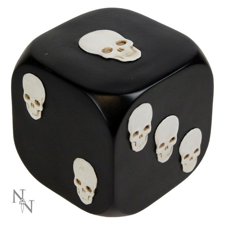 Nemesis Now Gothic doorstop/paper weight entitled Dice with Death