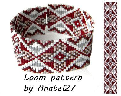 Bead loom pattern  Square stitch pattern   ethnic by Anabel27shop
