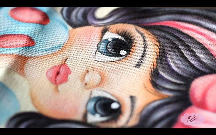 Pintura em tecido -  Eliane Nascimento: Cabelinho