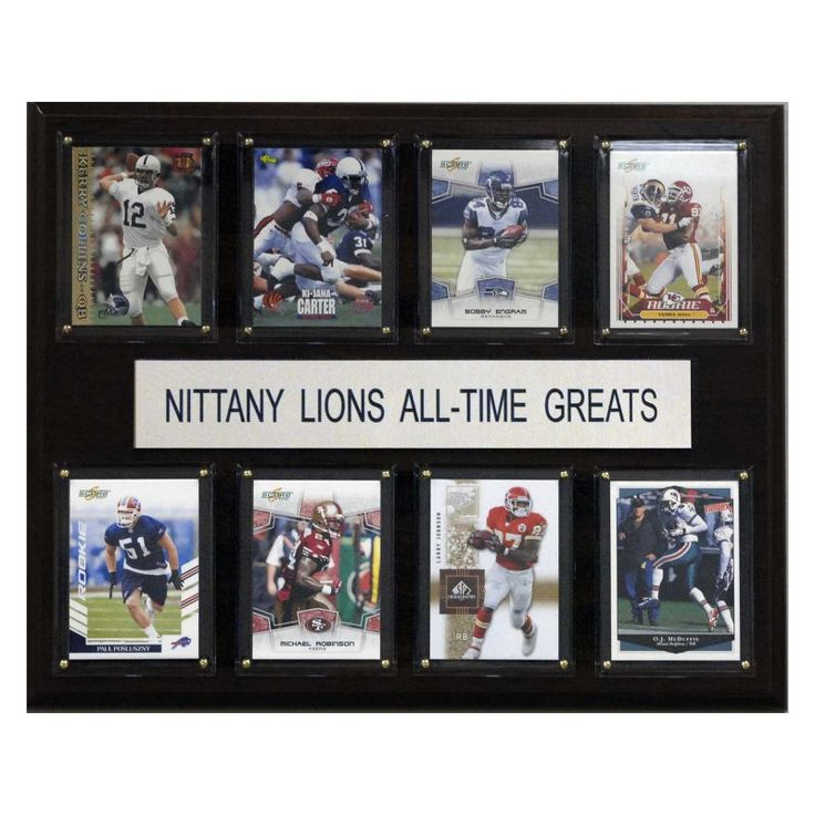 NCAA 12 x 15 in. Football Penn State Nittany Lions All-Time Greats Plaque - 1215ATGPST