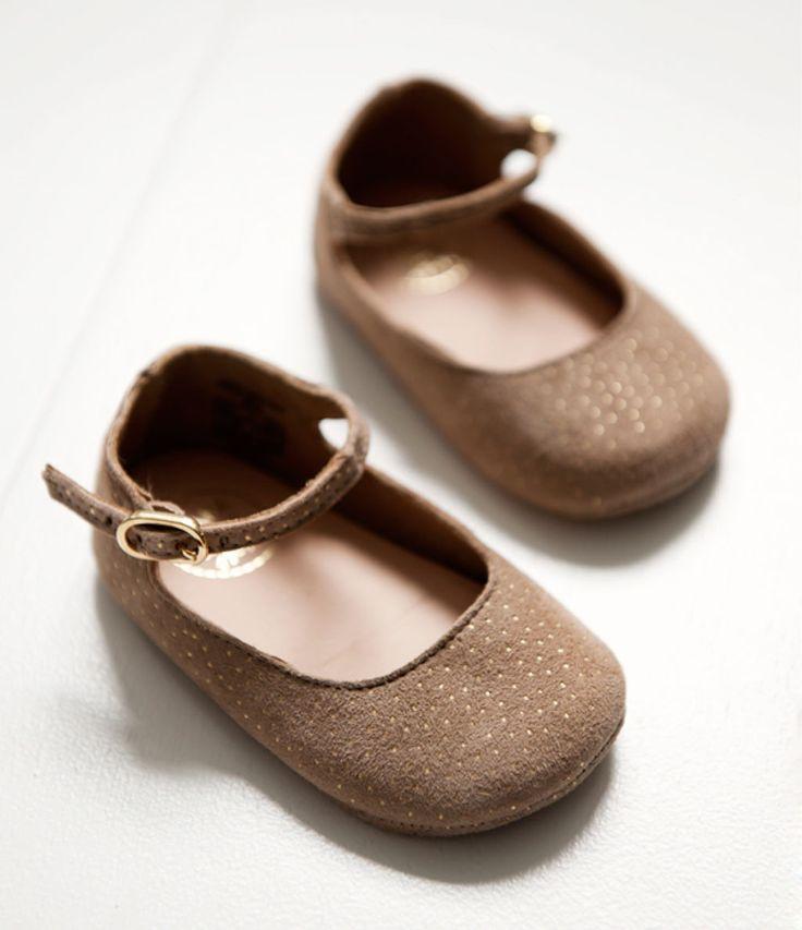 Leather Mary Jane ballerina shoes - Zara Kids