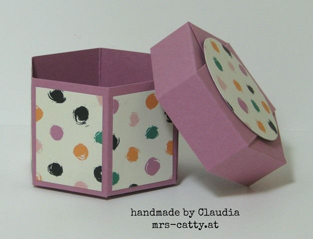 Sechseckbox mit Deckel 2, Hexagon Box with Lid, Stampin`UP!